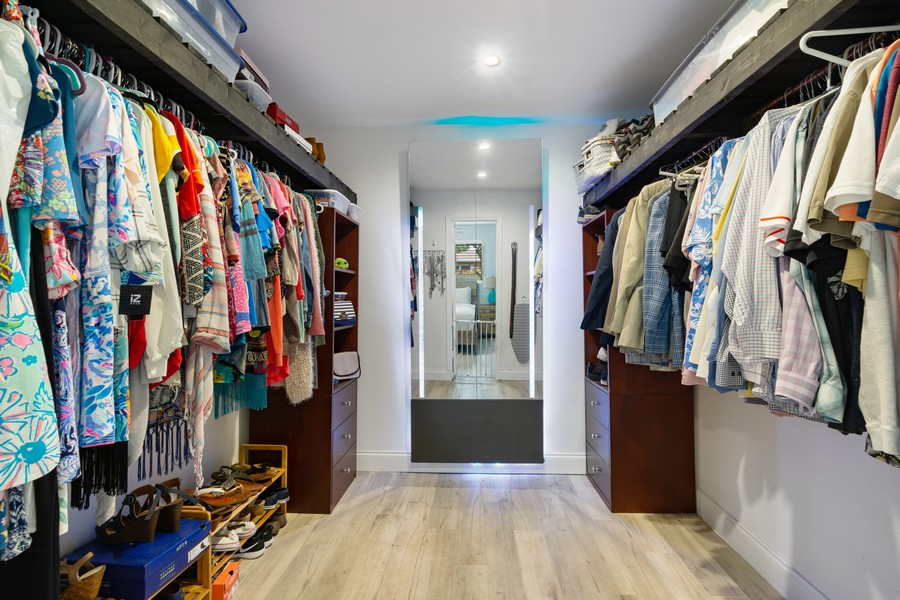 Real Estate Photography - 241 SW 16th St, Pompano, FL, 33060 - Master Bedroom Closet