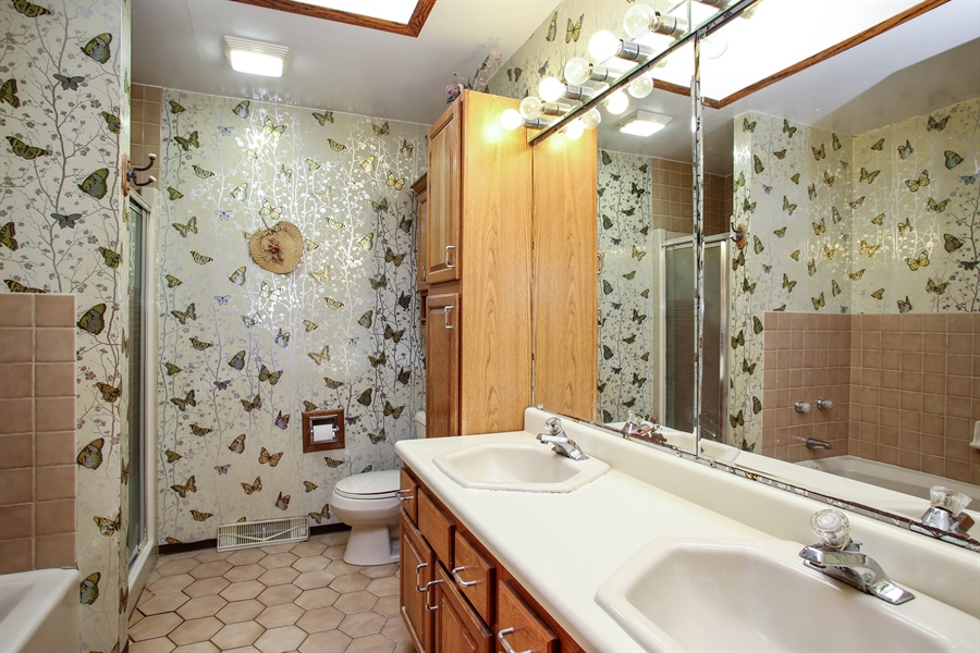 Real Estate Photography - 319 Orchard Terrace, Roselle, IL, 60172 - Master Bathroom
