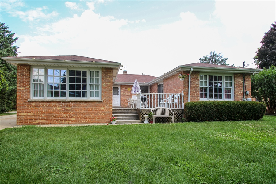 Real Estate Photography - 319 Orchard Terrace, Roselle, IL, 60172 - Rear View
