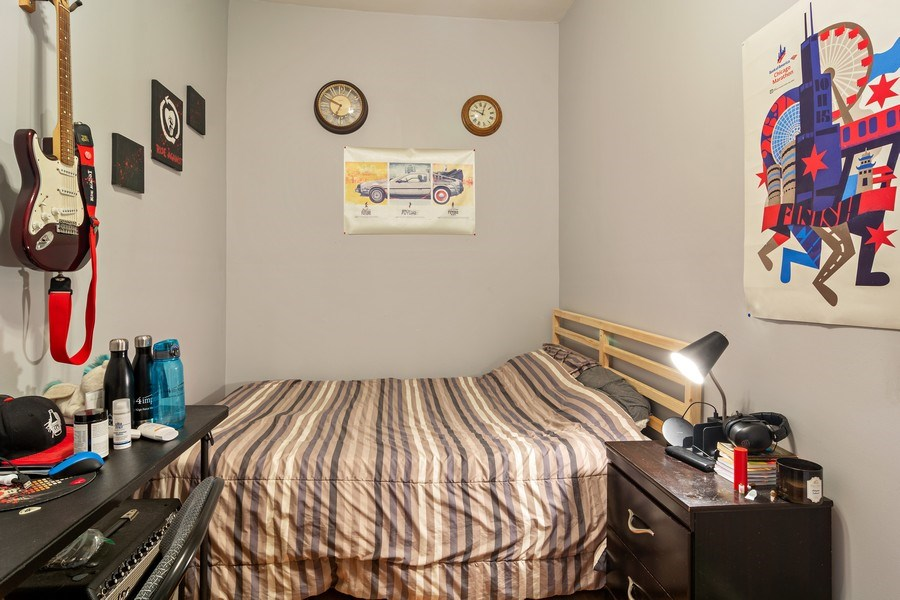 Real Estate Photography - 3633 N Elston Ave, Chicago, IL, 60618 - Bedroom 1 of 2 - Apt 2R