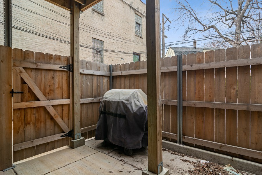 Real Estate Photography - 3633 N Elston Ave, Chicago, IL, 60618 - Back Yard - Apt 1R