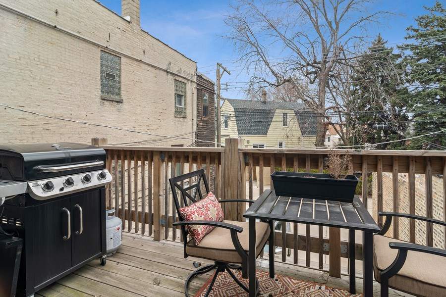 Real Estate Photography - 3633 N Elston Ave, Chicago, IL, 60618 - Deck- Apt 2R