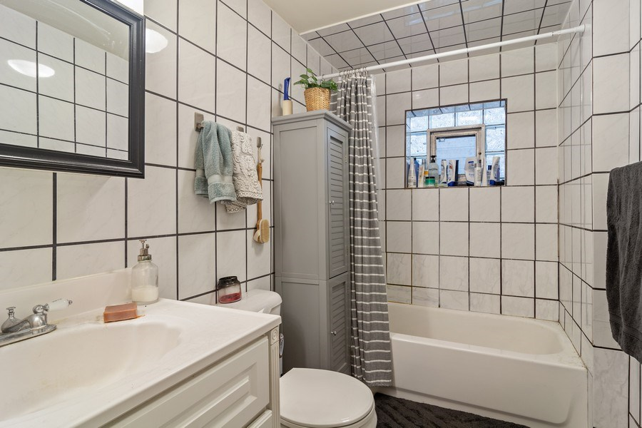 Real Estate Photography - 3633 N Elston Ave, Chicago, IL, 60618 - Bathroom - Apt 2R