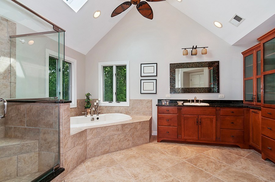 Real Estate Photography - 27W234 Warrenville Ave, Wheaton, IL, 60189 - Master Bathroom