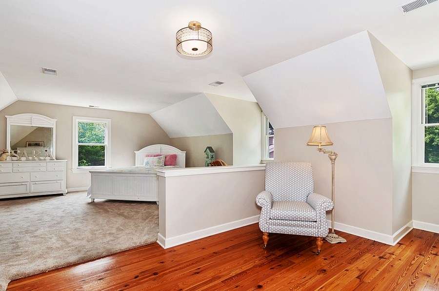 Real Estate Photography - 27W234 Warrenville Ave, Wheaton, IL, 60189 - 5th Bedroom with Sitting Area