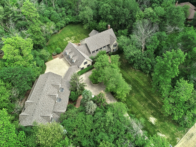 Real Estate Photography - 27W234 Warrenville Ave, Wheaton, IL, 60189 - Aerial View