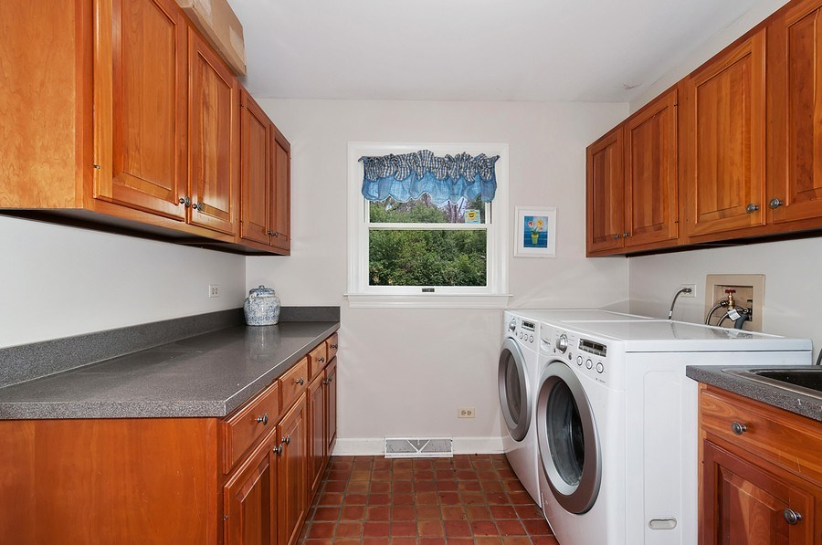 Real Estate Photography - 27W234 Warrenville Ave, Wheaton, IL, 60189 - First Floor Laundry Room