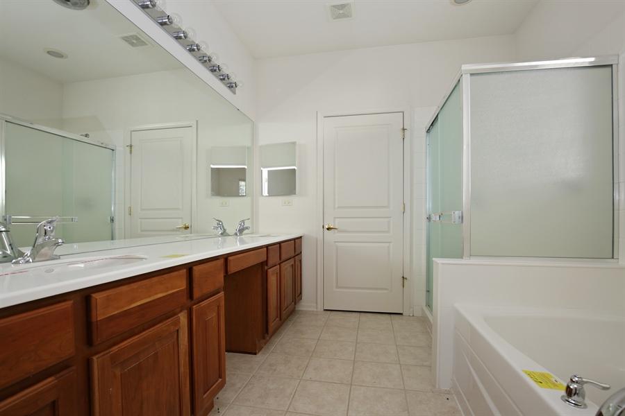 Real Estate Photography - 12112 Latham Trl, Huntley, IL, 60142 - Master Bathroom