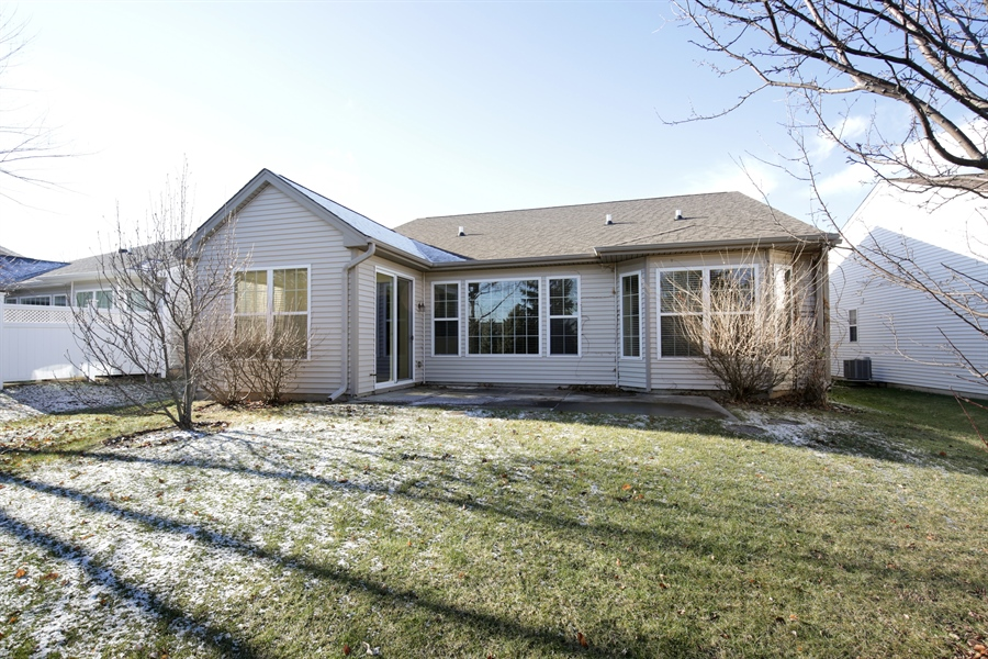 Real Estate Photography - 12112 Latham Trl, Huntley, IL, 60142 - Rear View