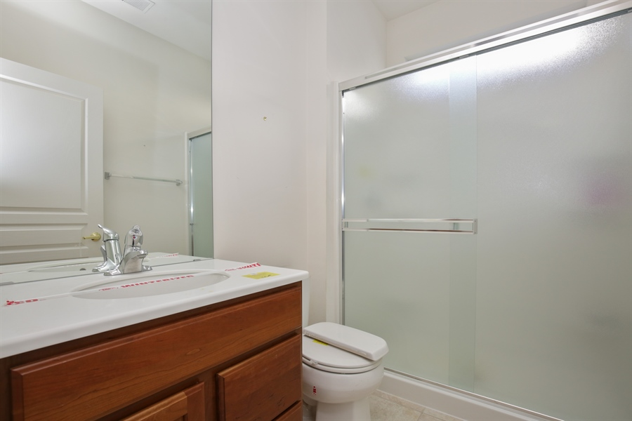 Real Estate Photography - 12112 Latham Trl, Huntley, IL, 60142 - Bathroom