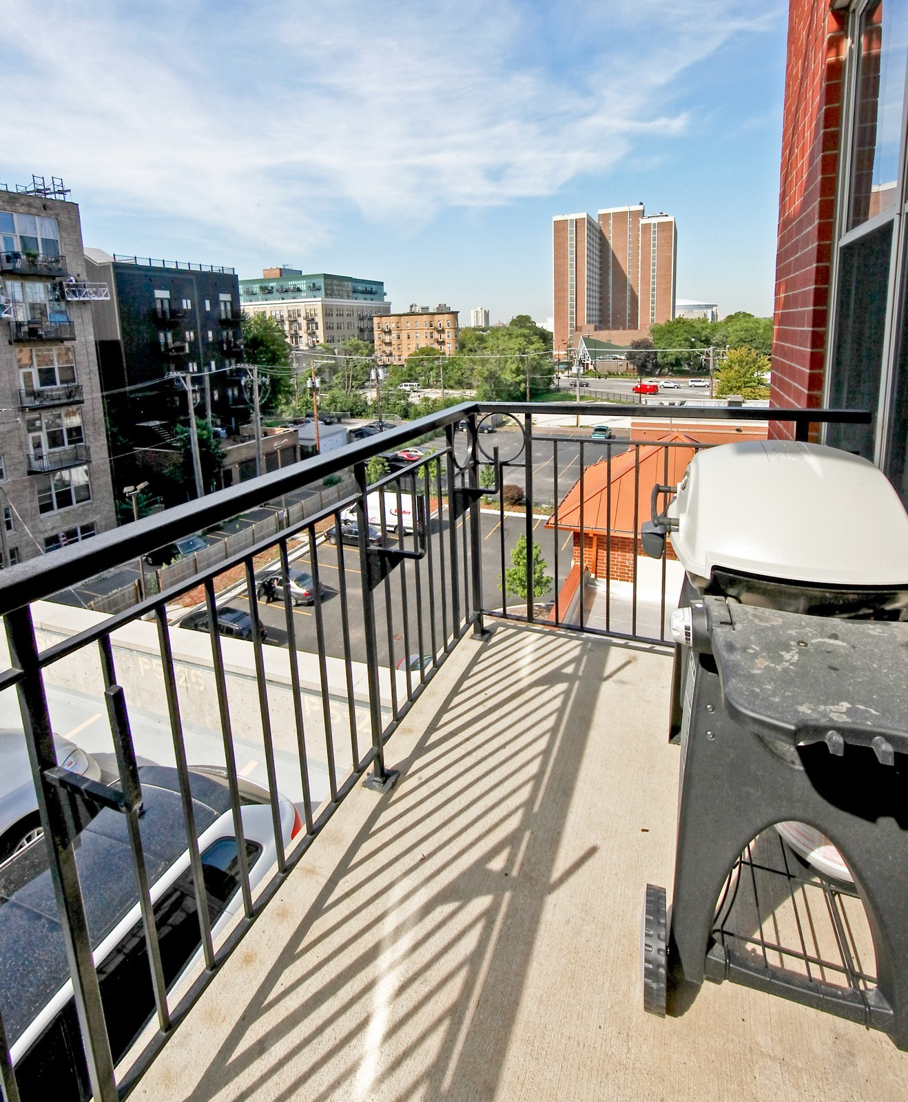 Real Estate Photography - 6 S Laflin, 524, Chicago, IL, 60607 - Balcony