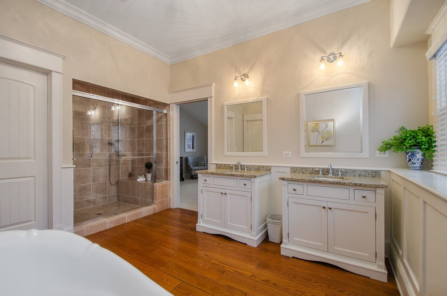 Real Estate Photography - 1450 Aurora Way, Wheaton, IL, 60189 - SPA RETREAT W/ WHITE CUSTOM CABINETRY & OVER SIZED