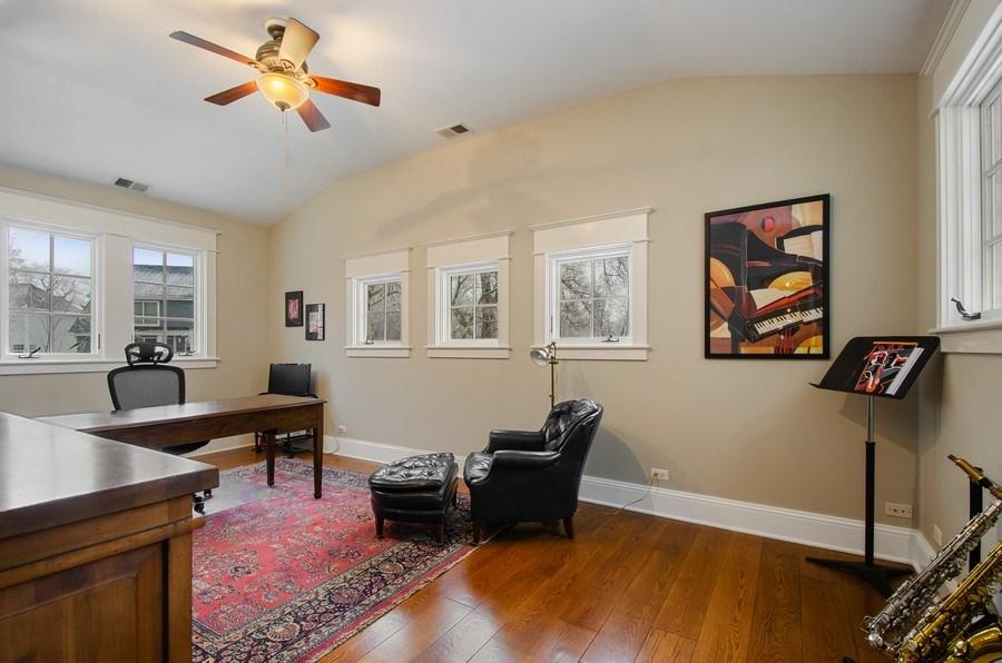 Real Estate Photography - 1450 Aurora Way, Wheaton, IL, 60189 - GORGEOUS STUDY