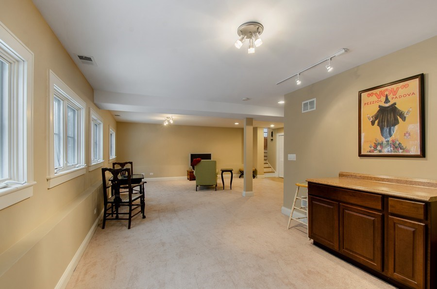 Real Estate Photography - 1450 Aurora Way, Wheaton, IL, 60189 - GAME SPACE W/ RECREATIONAL TV SPACE