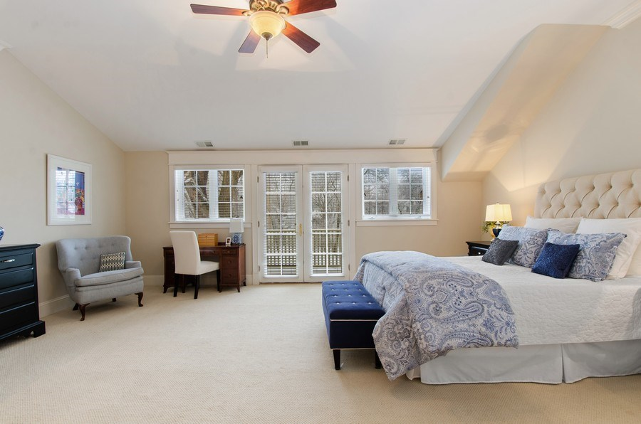 Real Estate Photography - 1450 Aurora Way, Wheaton, IL, 60189 - LOVELY FRENCH DOORS OFF MASTER RETREAT