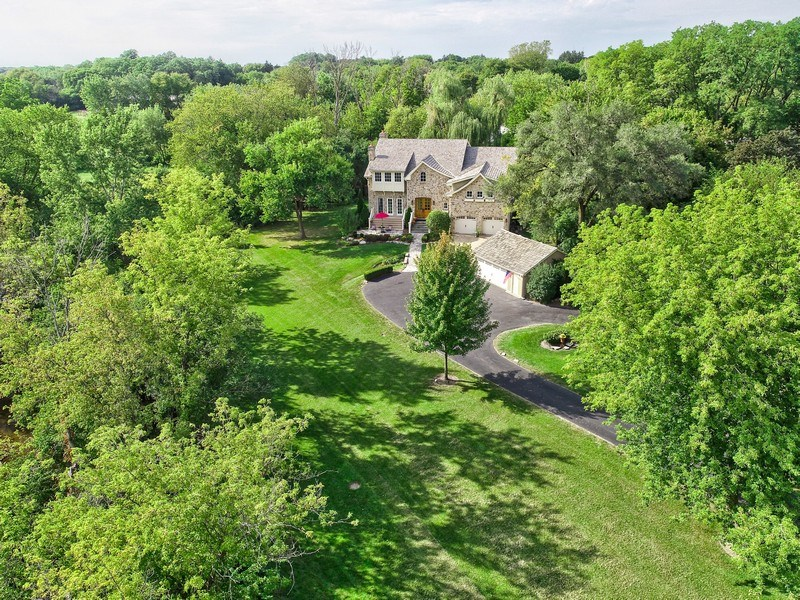 Real Estate Photography - 1450 Aurora Way, Wheaton, IL, 60189 - STATELY FRENCH COUNTRY