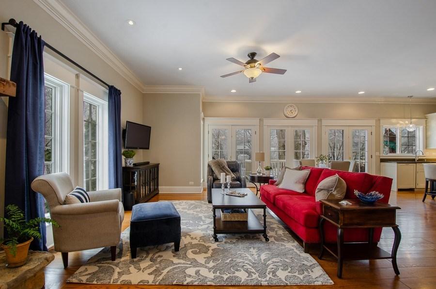Real Estate Photography - 1450 Aurora Way, Wheaton, IL, 60189 - Family Room