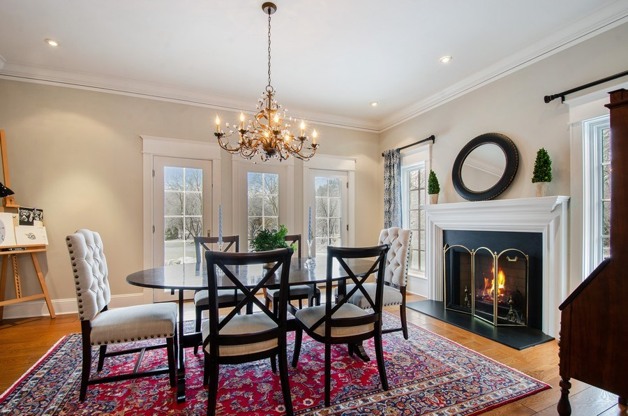 Real Estate Photography - 1450 Aurora Way, Wheaton, IL, 60189 - ABUNDANT LIGHT AND A COZY FIRE - STUNNING FORMAL D