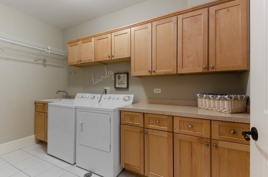 Real Estate Photography - 1450 Aurora Way, Wheaton, IL, 60189 - GREAT LAUNDRY SPACE W/ MAPLE CABINETRY