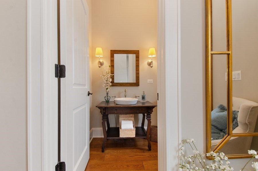 Real Estate Photography - 1450 Aurora Way, Wheaton, IL, 60189 - LOVELY POWER ROOM