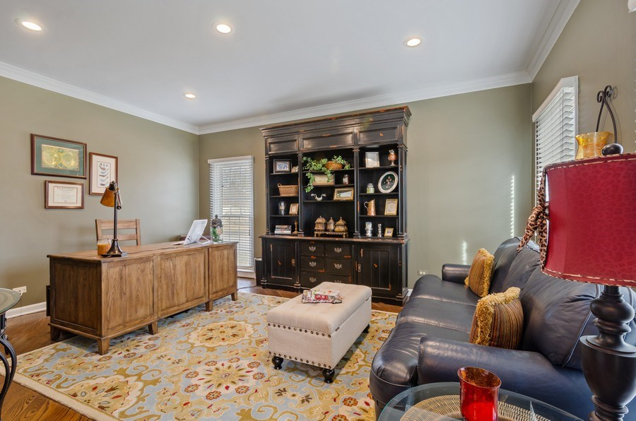 Real Estate Photography - 2S720 White Birch Lane, Wheaton, IL, 60189 - GREAT LIVING ROOM SPACE OR STUDY