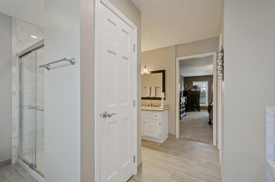 Real Estate Photography - 2S720 White Birch Lane, Wheaton, IL, 60189 - NEWLY RENOVATED MASTER BATH SHOWER