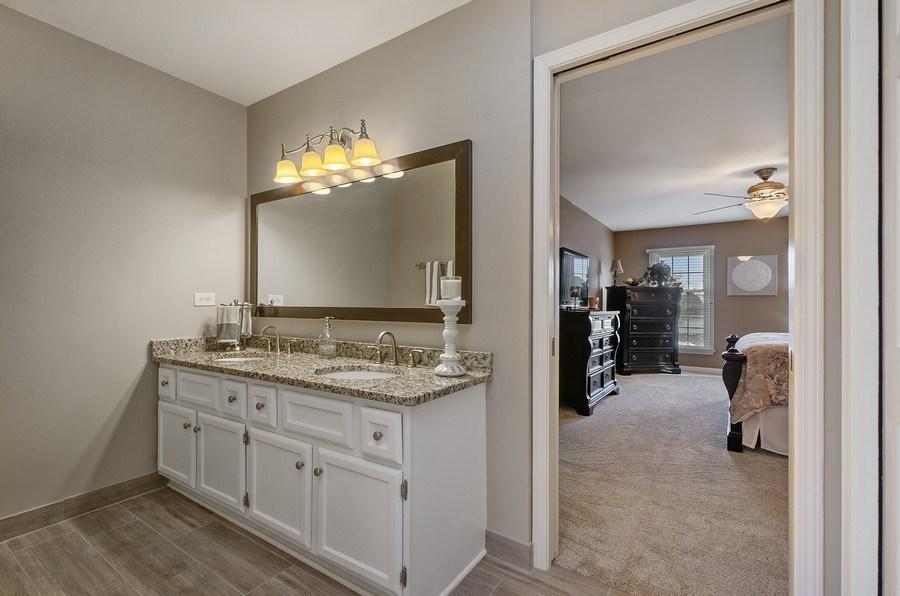 Real Estate Photography - 2S720 White Birch Lane, Wheaton, IL, 60189 - DOUBLE VANITY WITH GRANITE