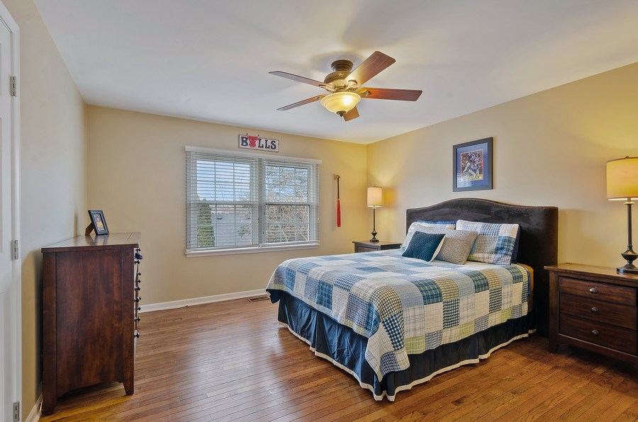 Real Estate Photography - 2S720 White Birch Lane, Wheaton, IL, 60189 - LARGE BEDROOM WITH WALK IN CLOSET AND HARDWOODS