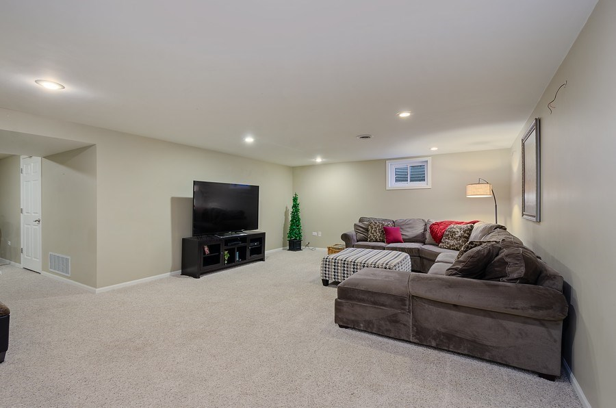 Real Estate Photography - 2S720 White Birch Lane, Wheaton, IL, 60189 - FULL FINISHED LOWER LEVEL