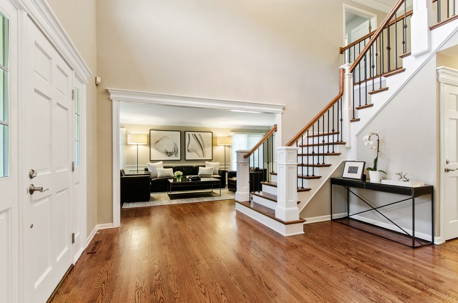 Real Estate Photography - 1200 Midwest Lane, Wheaton, IL, 60189 - Foyer/Living Room