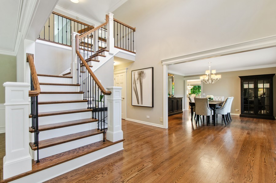 Real Estate Photography - 1200 Midwest Lane, Wheaton, IL, 60189 - Foyer/Dining Room