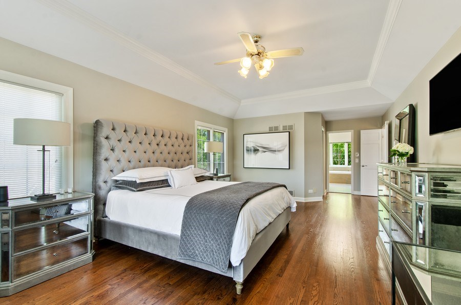 Real Estate Photography - 1200 Midwest Lane, Wheaton, IL, 60189 - Master Bedroom