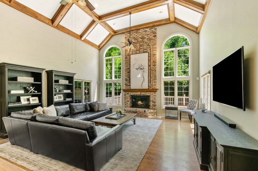 Real Estate Photography - 1200 Midwest Lane, Wheaton, IL, 60189 - Family Room