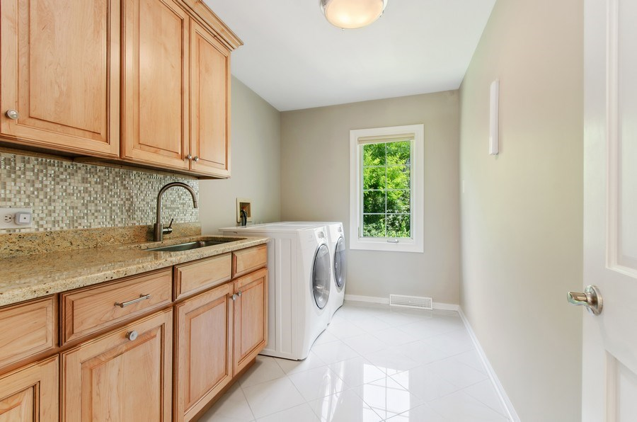 Real Estate Photography - 1200 Midwest Lane, Wheaton, IL, 60189 - Laundry Room