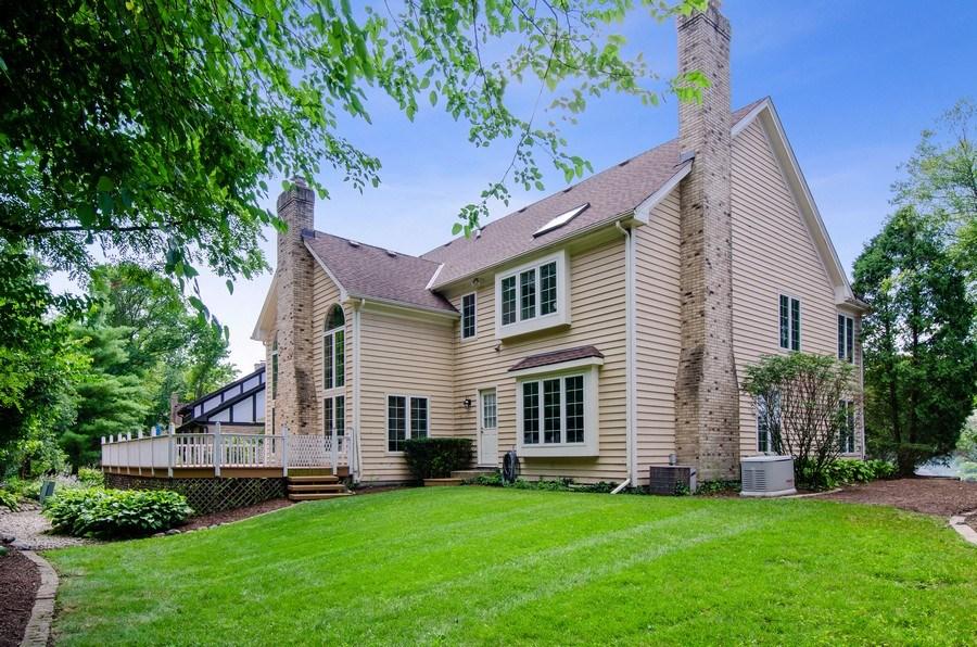 Real Estate Photography - 1200 Midwest Lane, Wheaton, IL, 60189 - Rear View