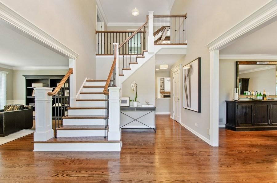 Real Estate Photography - 1200 Midwest Lane, Wheaton, IL, 60189 - Staircase