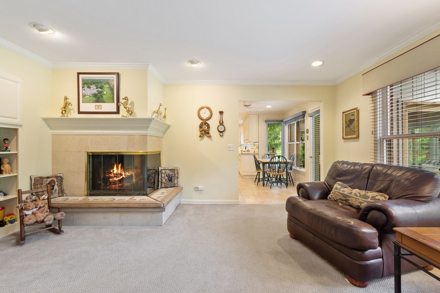 Real Estate Photography - 3451 W Mardan Dr, Long Grove, IL, 60047 - Family Room / Kitchen