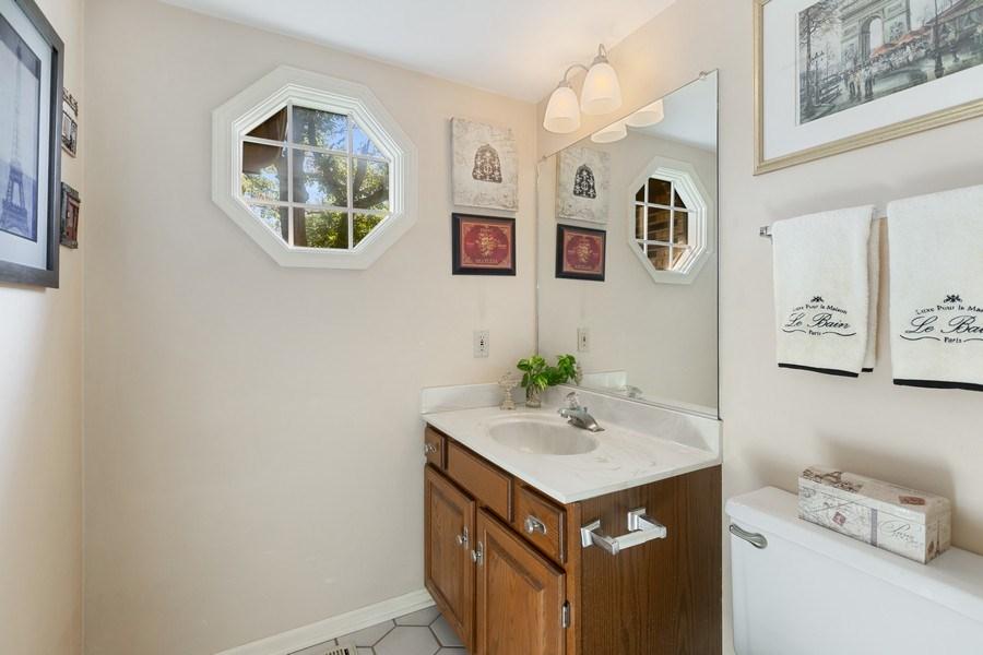 Real Estate Photography - 3703 Live Oak, Crystal Lake, IL, 60014 - Powder Room