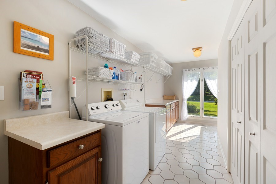 Real Estate Photography - 3703 Live Oak, Crystal Lake, IL, 60014 - Laundry Room
