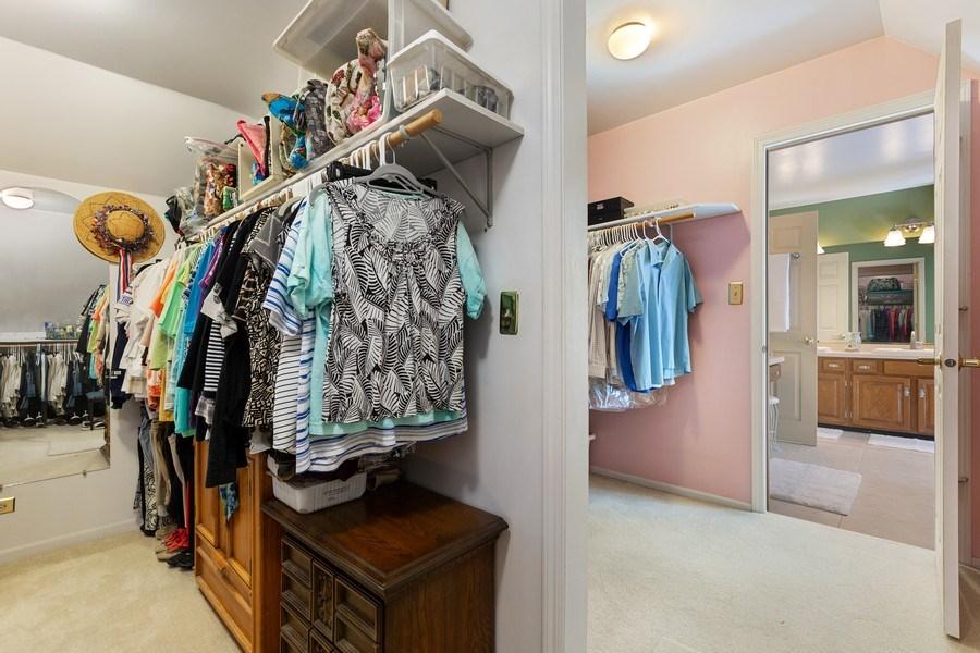 Real Estate Photography - 3703 Live Oak, Crystal Lake, IL, 60014 - Master Bedroom Closet