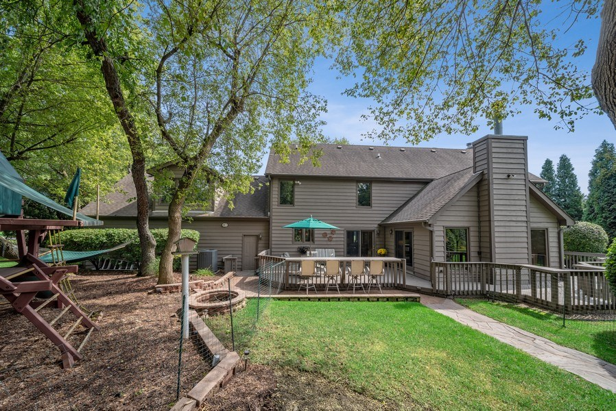 Real Estate Photography - 3887 Tamarack Circle, Crystal Lake, IL, 60012 - Rear View