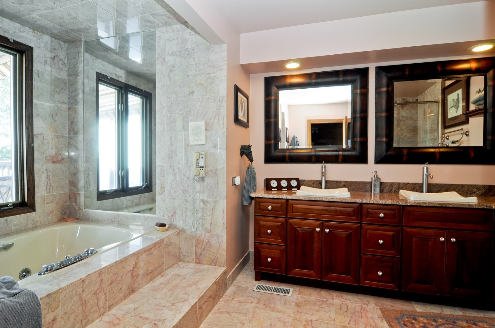 Real Estate Photography - 33 Little Bend, Barrington Hills, IL, 60010 - Master Bathroom