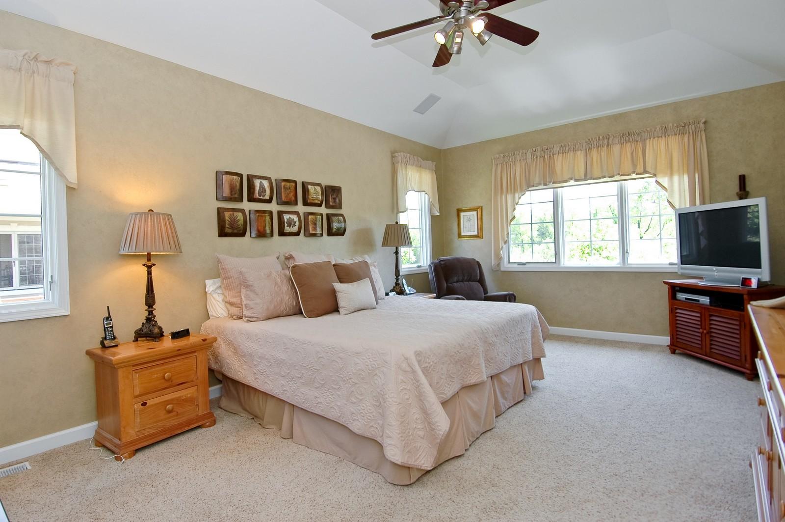 Real Estate Photography - 8719 Shade Tree Circle, Village of Lakewood, IL, 60014 - Master Bedroom