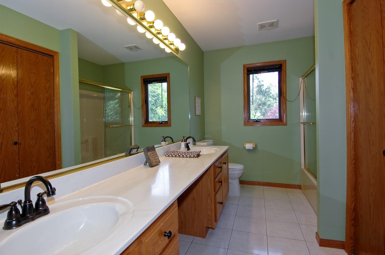Real Estate Photography - 4915 Raintree Court, Johnsburg, IL, 60051 - Hall Bathroom