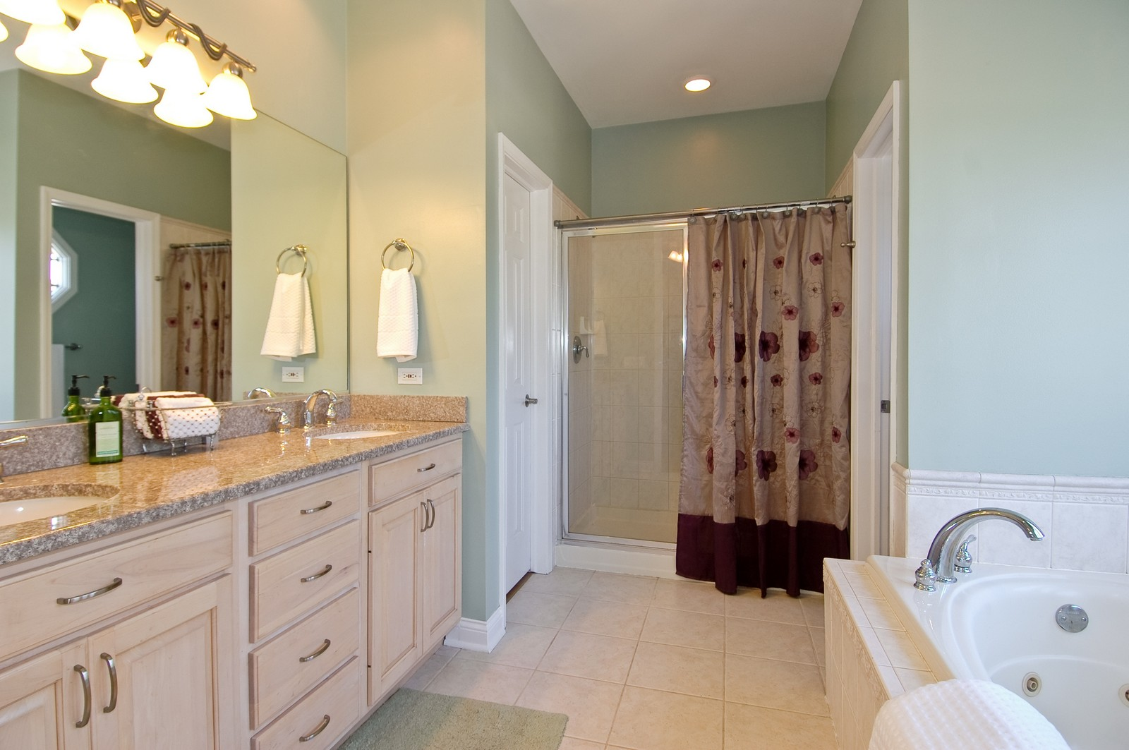 Real Estate Photography - 40W960 Chippewa Pass, Elgin, IL, 60124 - Luxury Master Bathroom with Whirlpool
