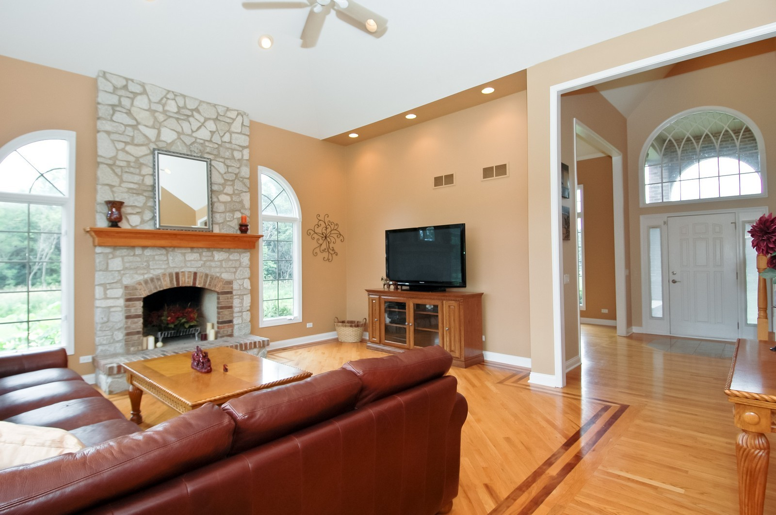 Real Estate Photography - 40W960 Chippewa Pass, Elgin, IL, 60124 - Family Room to Foyer