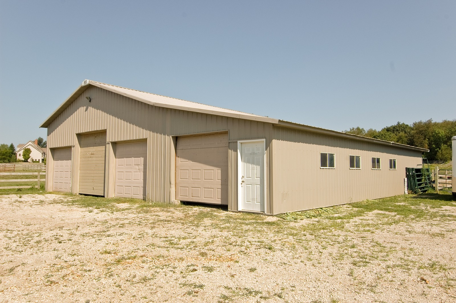 Real Estate Photography - 40W960 Chippewa Pass, Elgin, IL, 60124 - 54' x 52' 5 Stall Barn w/Tac Room & Running Water