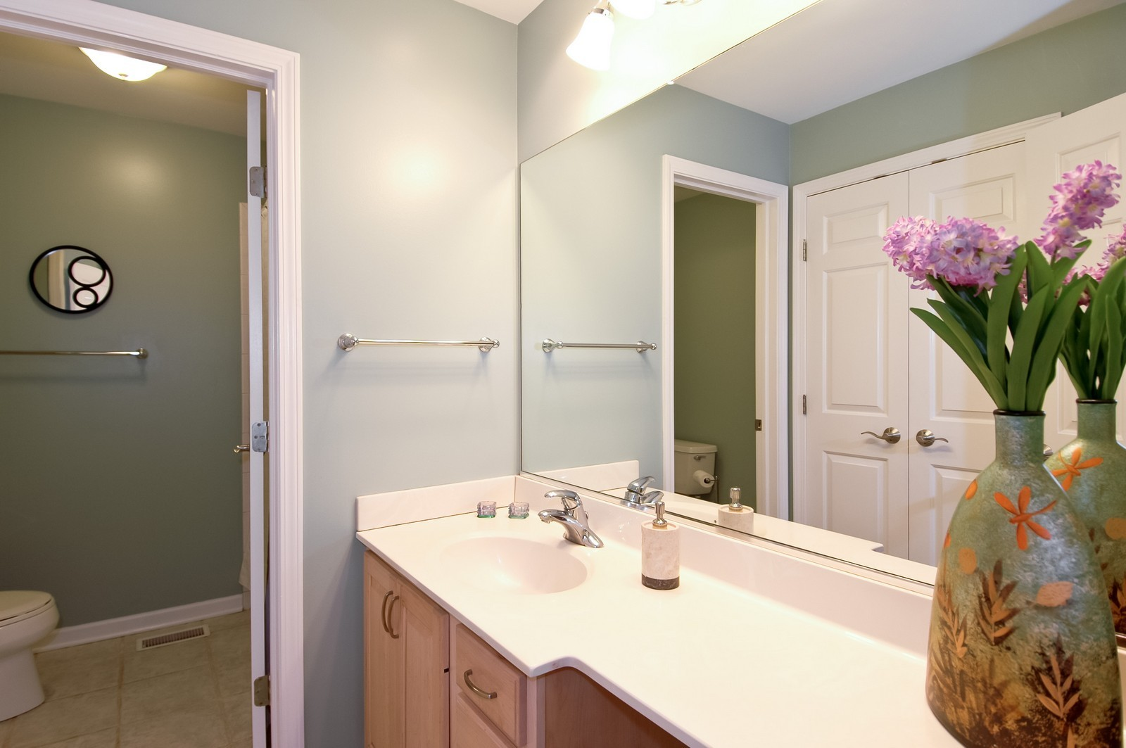 Real Estate Photography - 40W960 Chippewa Pass, Elgin, IL, 60124 - 2nd Hall Bathroom