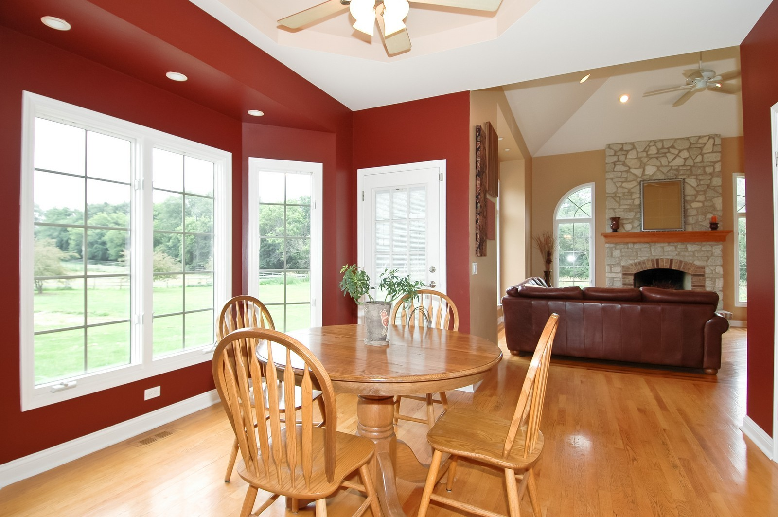 Real Estate Photography - 40W960 Chippewa Pass, Elgin, IL, 60124 - Eating Area to Family Room & Patio
