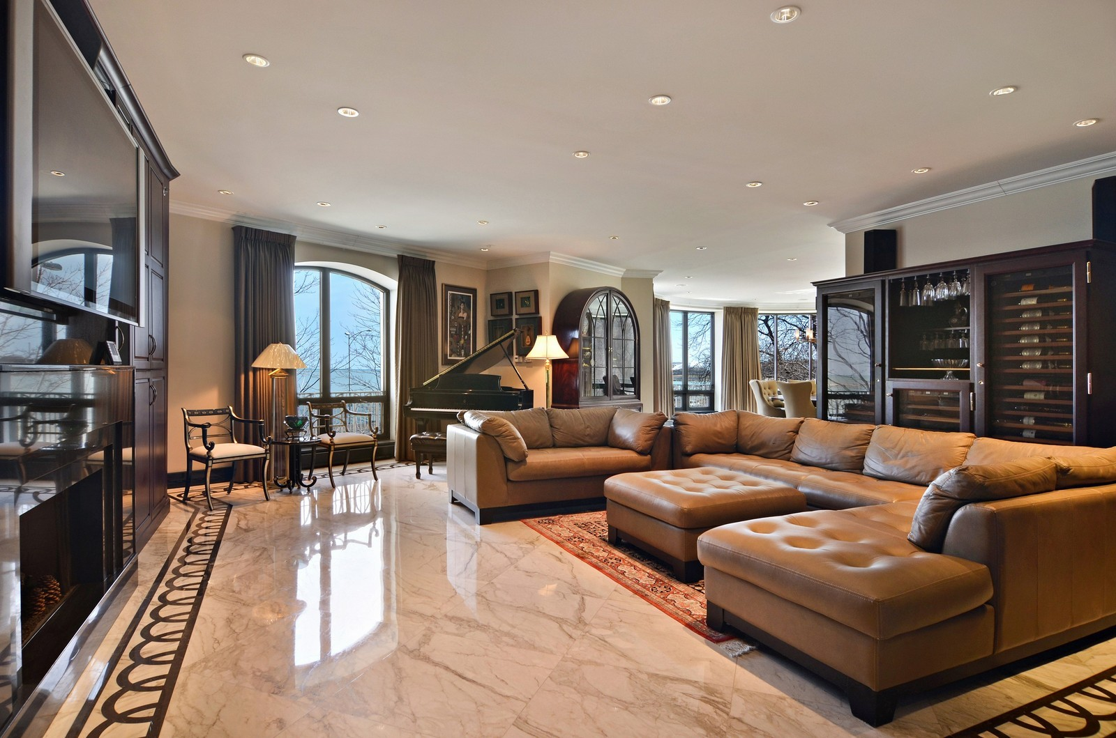 Real Estate Photography - 840 N Lake Shore Dr, Unit 201, Chicago, IL, 60611 - Living Room